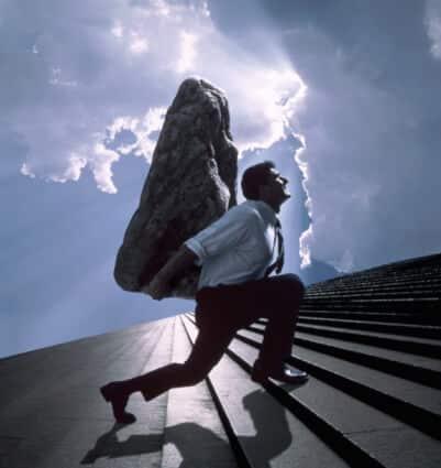 AB11756 ostacolo al successo? SEI TU IL VERO L'OSTACOLO AL TUO SUCCESSO? peso senso di colpa